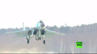 الرئيس بوتين يراقب تحليقات اختبارية لـ ميغ-35 المزودة بأسلحة ليزرية