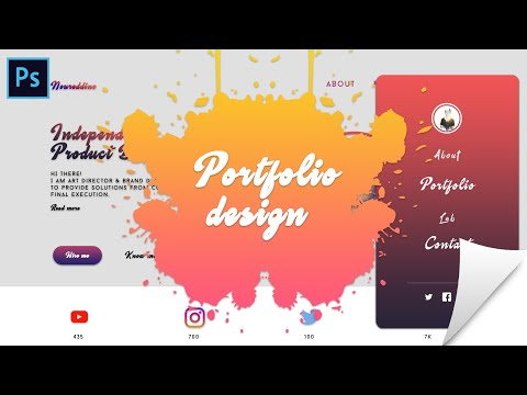 Ui Design Tutorial [Photoshop CC] | تصميم واجهة المستخدم 2018