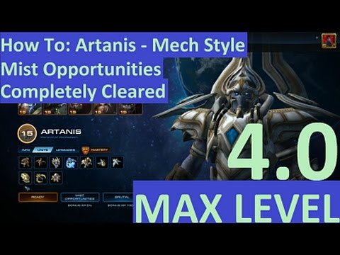 StarCraft 2: LOTV - How to Use Artanis' Mech Style, Mist Opportunities Complete Clear (Brutal)