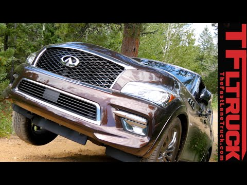 2015 Infiniti QX80 Takes on the Gold Mine Hill Off-Road Revi