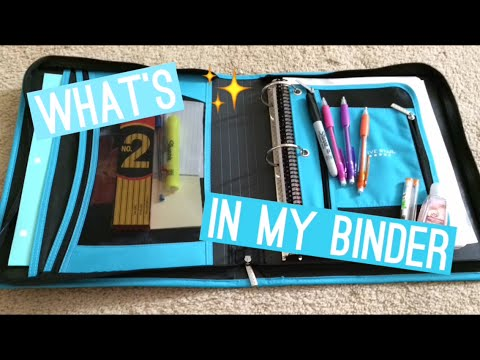 What is in my Binder! ✨