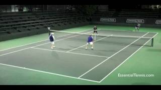 Tennis Doubles: Return and Volley