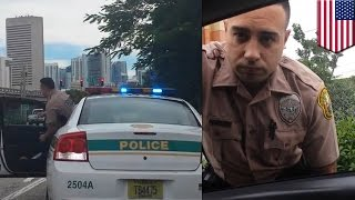 Woman pulls over Miami cop for speeding following high speed pursuit - TomoNews