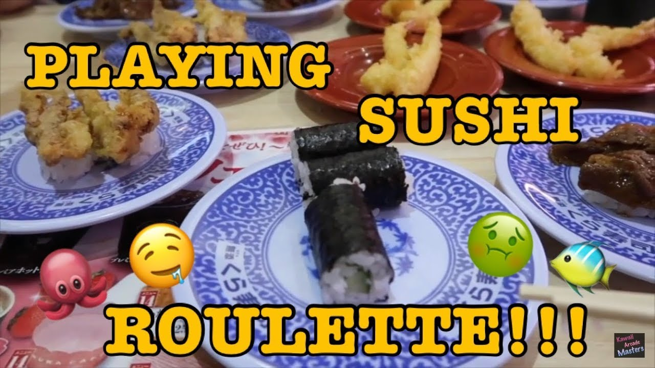 Sushi roulette game show roulette what way does the wheel spin