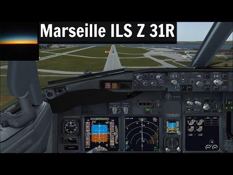 [FSX] PMDG 737 NGX | Marseille (LFML) ILS Z 31R