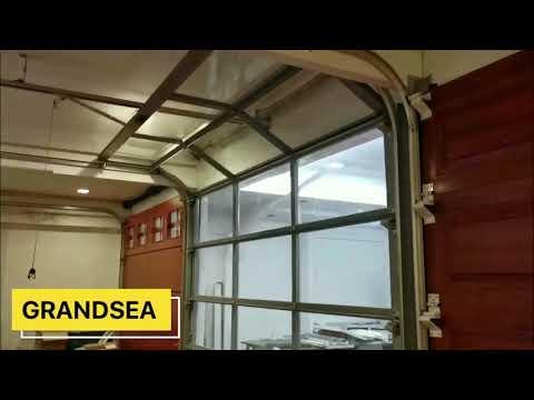 residential-black-color-aluminum-glass-sectional-garage-door