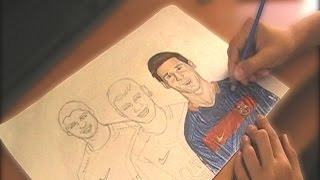 SPEED DRAWING| MESSI,SUAREZ,NEYMAR| FC BARSELONA