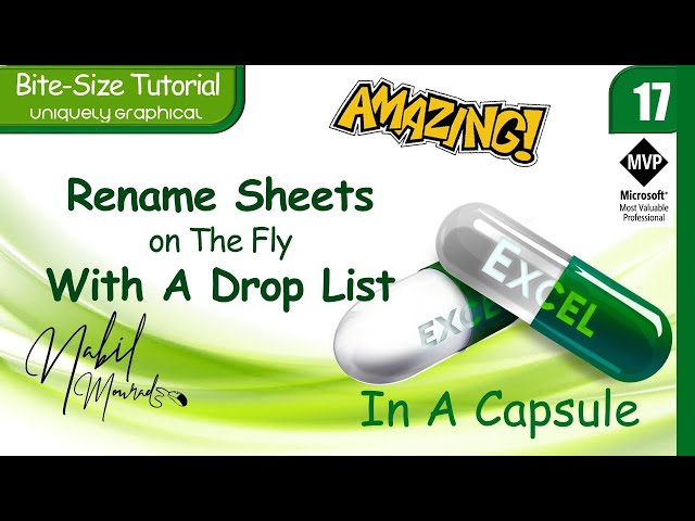 Rename Sheets On The Fly With A Drop List- Just Amazing!! Excel In A Capsule (Episode 17)