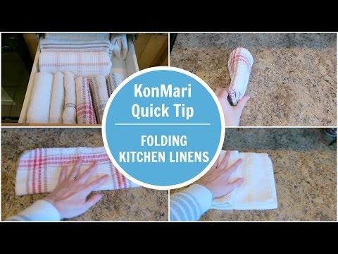 KonMari Tip | Folding Kitchen Linen