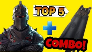 The 5 BEST BLACK RITTER COMBINATIONS | Fortnite Skin Combinations!!