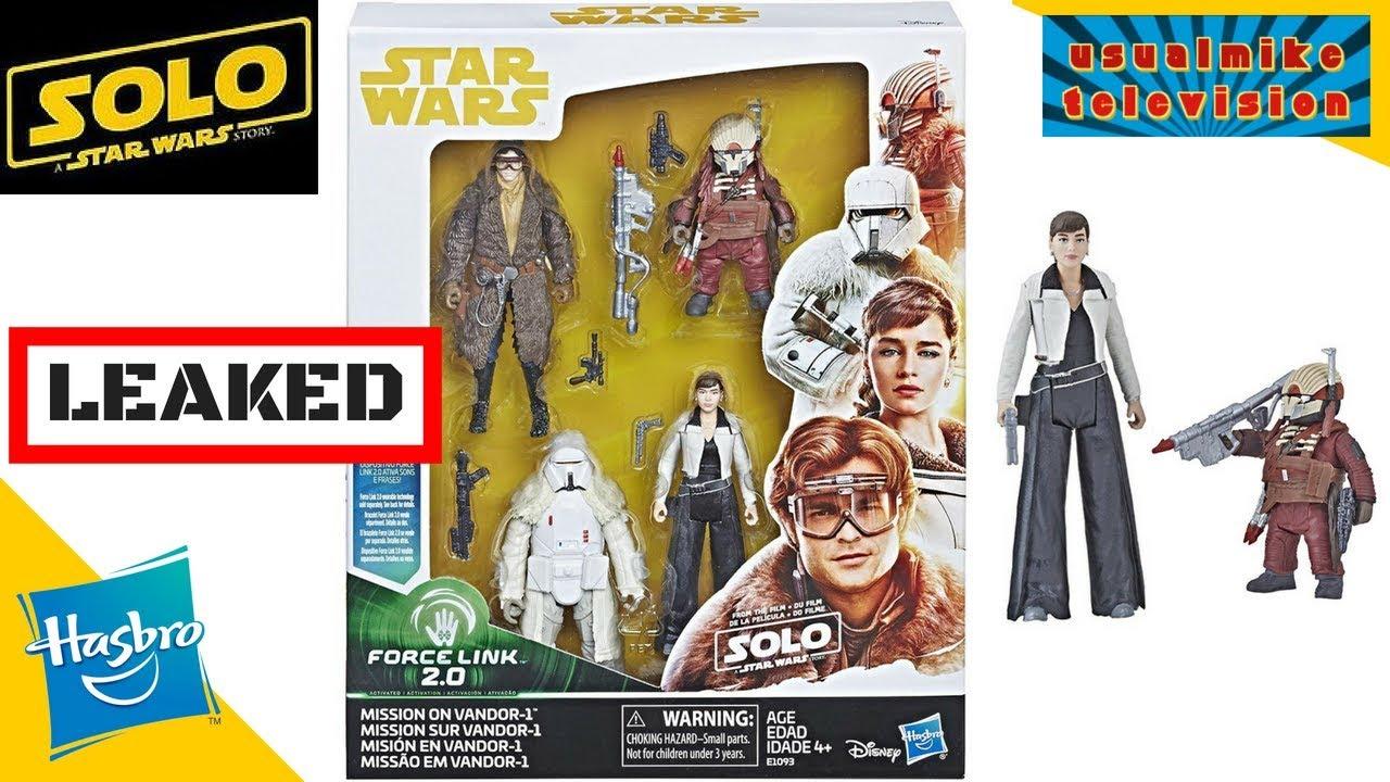 Hasbro Star Wars weazel figure Han Solo film Force Link 2.0 mission sur Vandor
