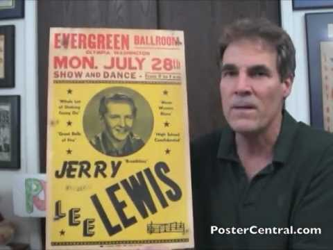 Jerry Lee Lewis Concert Poster 1950s Birth of Rock 'n' Roll