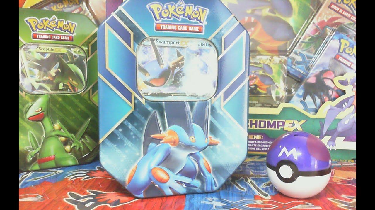 ★APERTURA★ Pokemon Nuovo Tin Potere di Hoenn -  Swampert EX ★