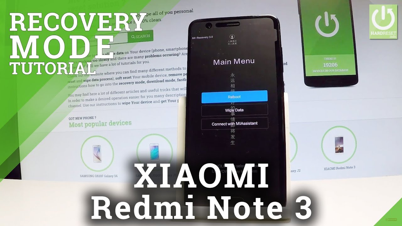 Recovery Mode XIAOMI Redmi Note 3 - HardReset info