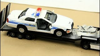 Police Chase and Crashed. Toy Cars Video For Kids.