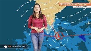 Weather Forecast for Nov 27: Rain in Chennai, Tamil Nadu, South Coastal Andhra Pradesh