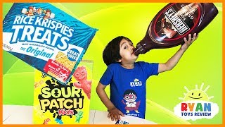 GIANT CANDY CHALLENGE! World's Biggest Candy magic transform Family Fun Taste Test