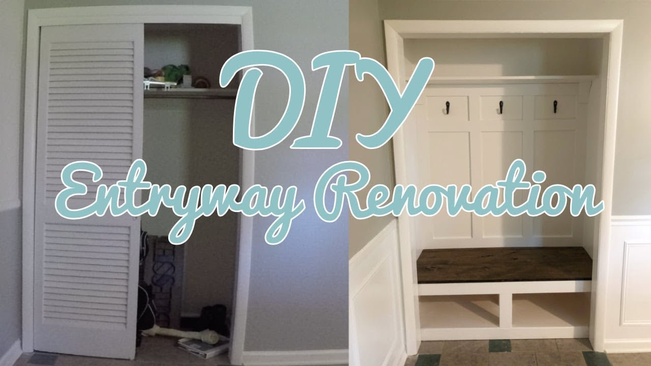 Diy Entryway Closet Makeover Time Lapse