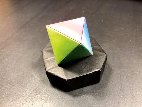 [折り紙origami]正八面体 折り方 Positive octahedron