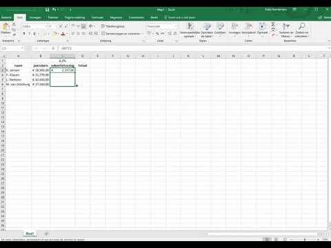 Excel relatieve en absolute celverwijzing