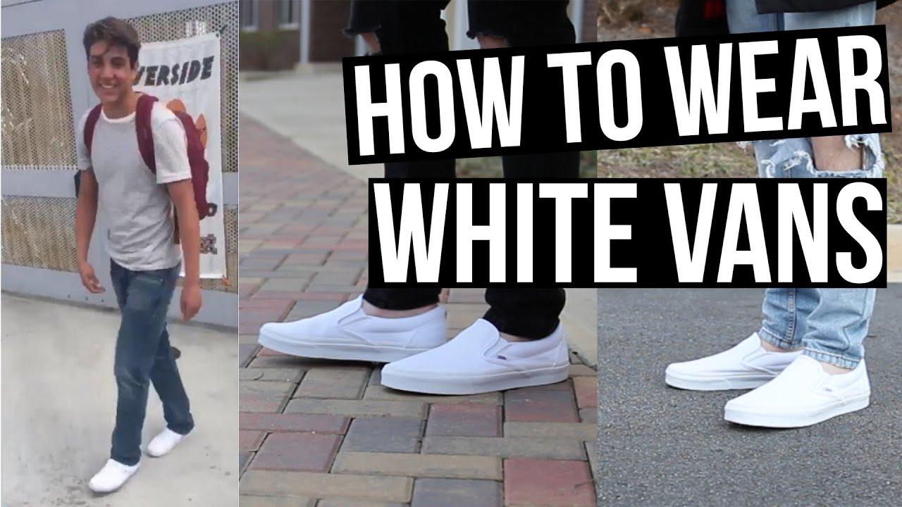 style white vans