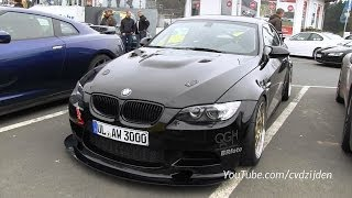 Modified bmw m3 e92 with akrapovic exhaust system!