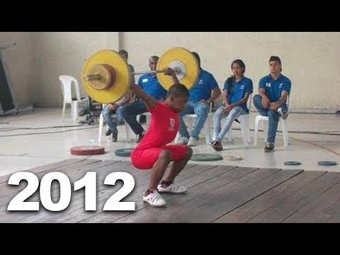 Yeison Lopez 18 y/o   Weightlifting training progress