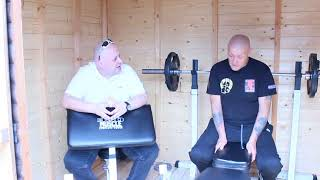 Porky Russ and trainer Chris Smedley discuss boxing