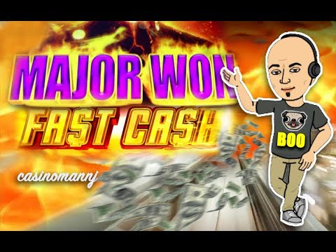 "**MAJOR WON** - FAST CASH SLOT - ""PHEW"" - Slot Machine Bonus"