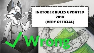 Inktober Rules Updated for 2018! (URGENT) (VERY OFFICIAL)
