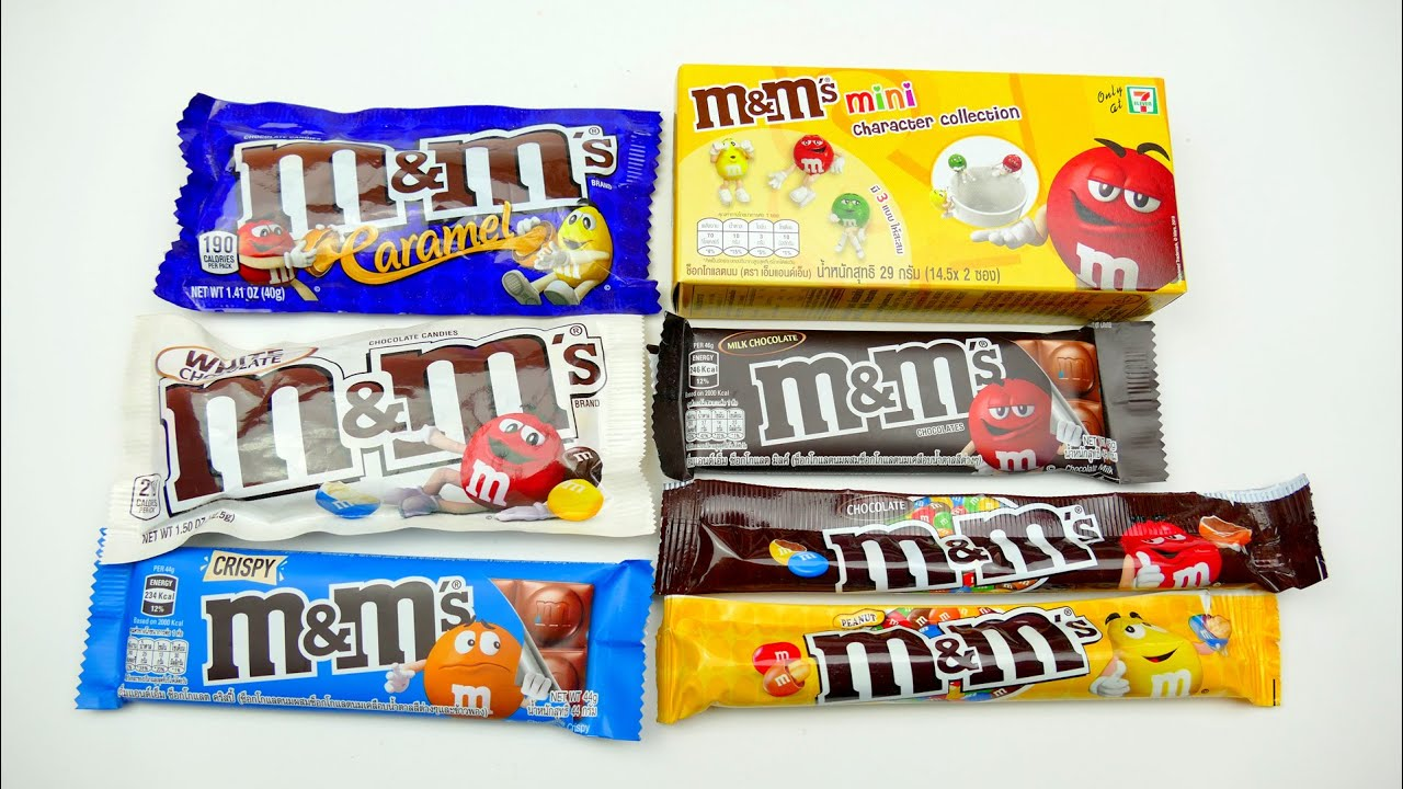 M&M collections Candy and M&Ms mini character - @SuperFunTV