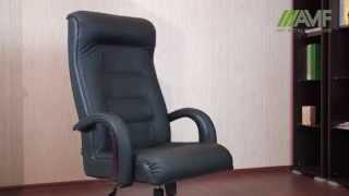 Обзор кресла Роял Люкс(Цена и наличие: http://amf.com.ua/kreslo_rojal_ljuks_orekh_kozha_split_chernaja/p030106/ Видеообзор кресла Роял Люкс Кресла для руководител..., 2015-04-23T13:23:43.000Z)