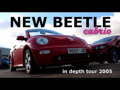 2005 Volkswagen VW New beetle cabriolet in depth tour start up. convertible