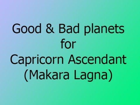 10  Good and Bad Planets - Capricorn Ascendant (Makara Lagna)