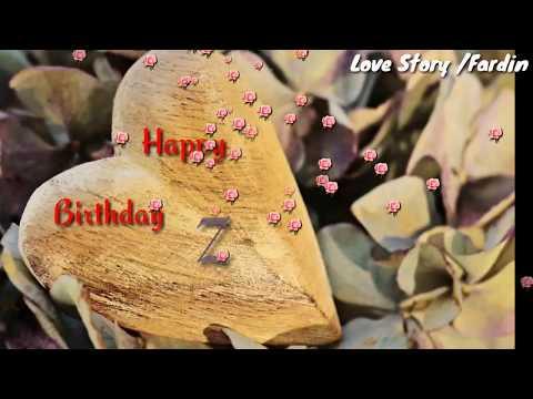 """Z"" Letter Happy Birthday Status||Happy Birthday Song By Diljit Doshan WhatsApp Status"