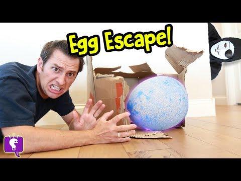 Giant NEST Gone MISSING! Game Trixster in HobbyGuy House with Mystery Egg by HobbyKidsTV