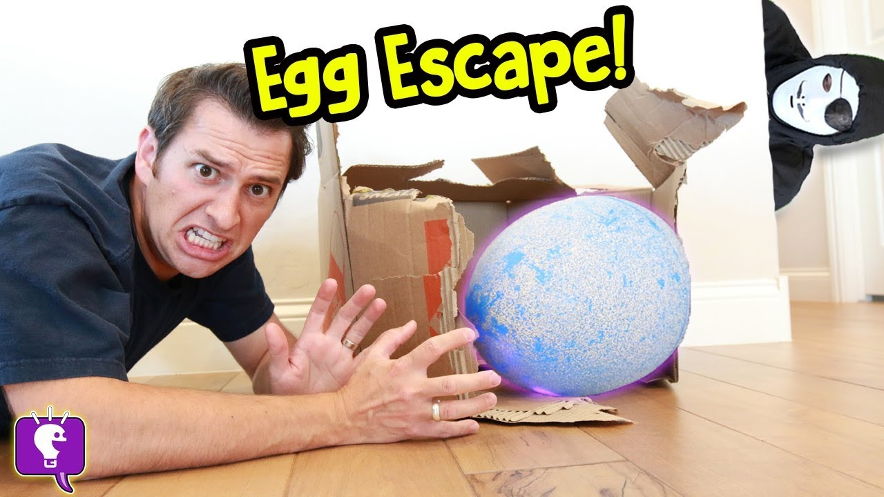 Giant NEST Gone MISSING! Game Trixster in HobbyGuy House with Mystery Egg by HobbyKidsTV