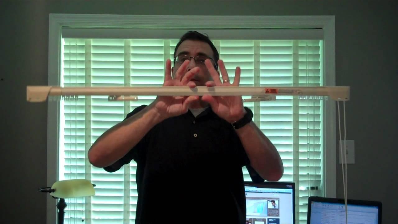 kirsch traverse rod centering the master slides on a center draw traverse rod