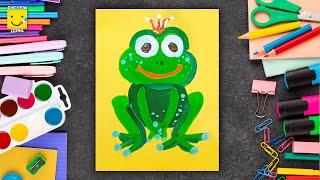 Как нарисовать Царевну-лягушку - урок рисования для детей 4 лет, рисуем дома поэтапно