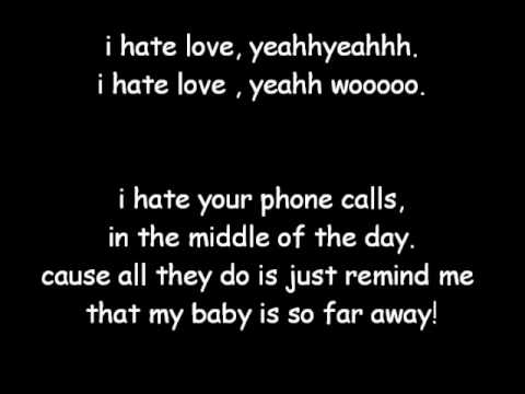 » claude kelly - i hate love lyrics