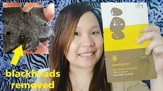 Innisfree Jeju Volcanic Blackhead 3step Program Review and Demo   ChubbyChiniCatt