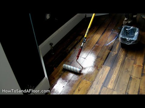 How To Lacquer, Oil or Varnish A Wood Floor (Roller)