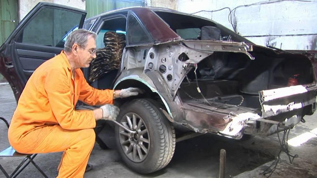 Ремонт АУДИ после ДТП часть 1. Audi repair after an accident Part 1
