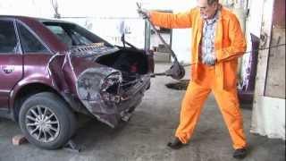 Ремонт АУДИ после ДТП часть 1(Восстановить свой автомобиль может каждый, я так назвал фильм потому, что сам, не имея достаточного опыта,..., 2012-08-22T21:30:22.000Z)