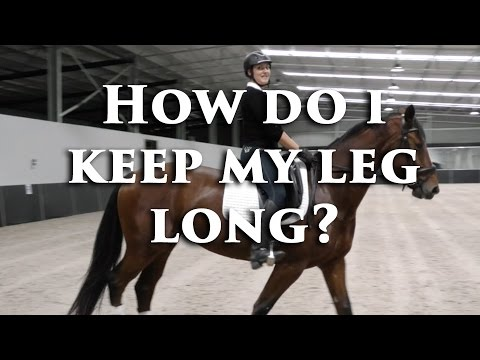 How Do I Keep My Leg Long When Giving Leg Aids? - Dressage Mastery TV Ep 92
