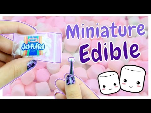 Edible Miniature Marshmallows ~ Dollhouse Food DIY