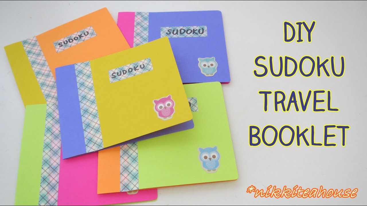back to school idea diy sudoku travel booklet youtube