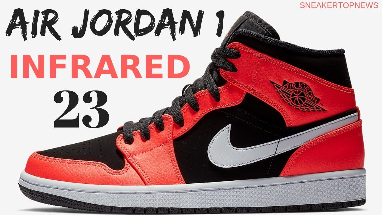 "a24310325b0 The Air Jordan 1 Mid ""Infrared 23"" Is Available Now 