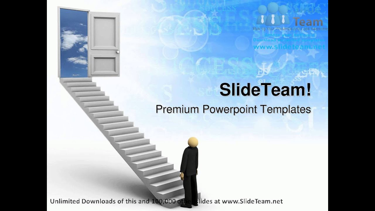 ladder of success leadership powerpoint templates themes and, Modern powerpoint