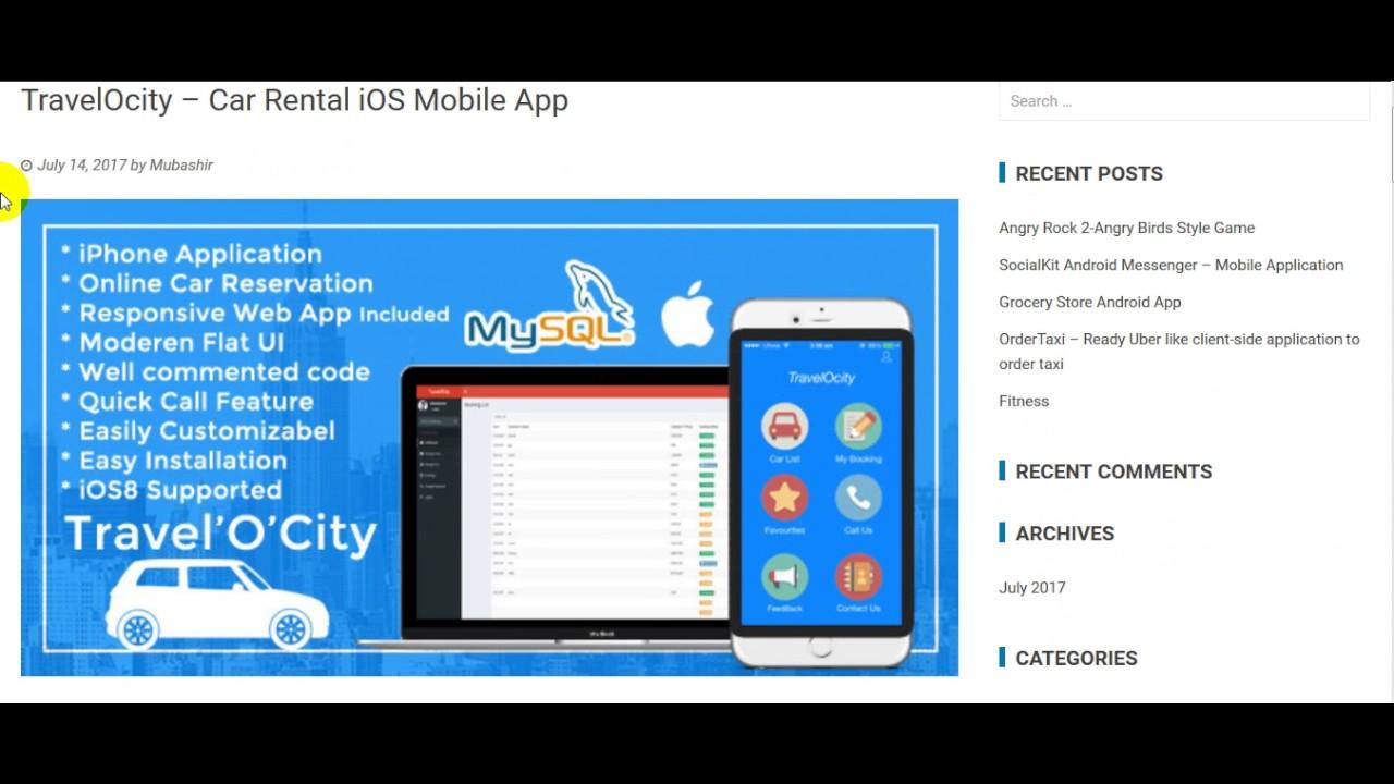 Car Rental IOS Mobile App Free Download